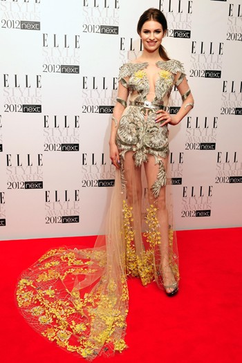 Tali Lennox in Julien Macdonald