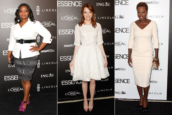 Emma Stone, Viola Davis and Octavia Spencer look LOVELY at Essence party