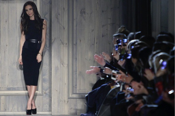 Victoria Beckham during her Autumn/Winter 2012 catwalk show