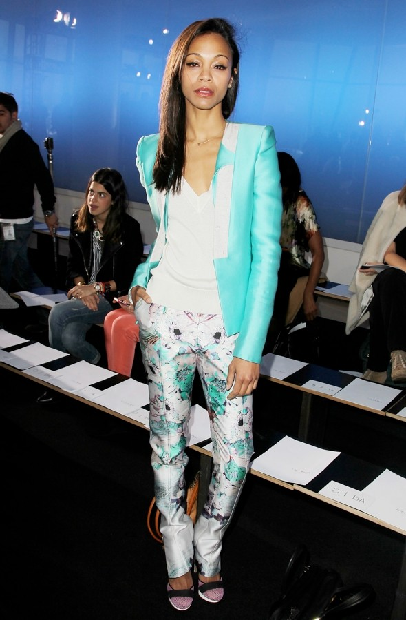 Hot or not: Zoe Saldana's floral-print trousers