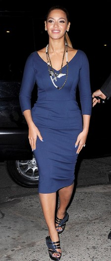 Beyonce Knowles at a charity dinner, March 2012
