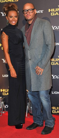 Mel B and Stephen Belfonte at the London premiere