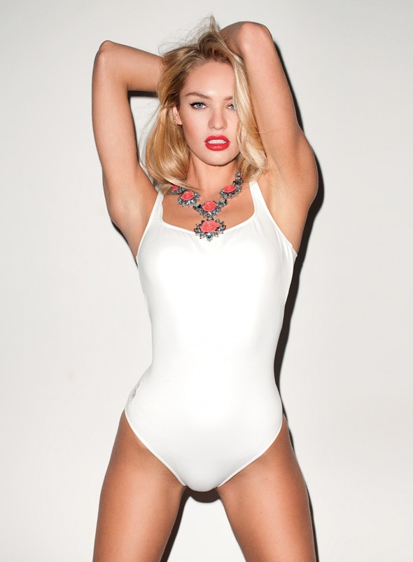 Candice Swanepoel rocks Prada S/S accessories (and little else) for GQ