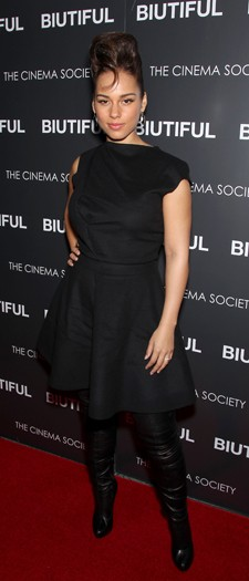 Alicia Keys at the Biutiful film screening, December 2010