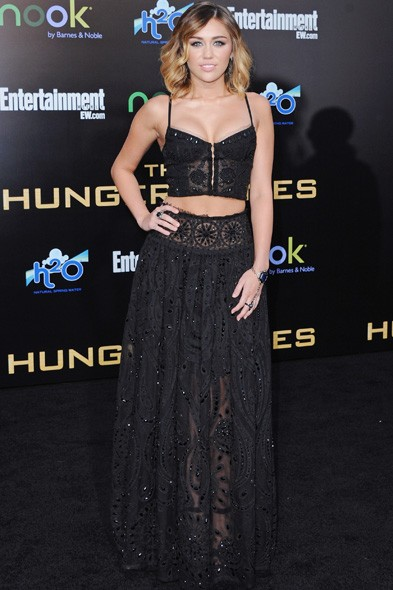 Miley Cyrus in Emilio Pucci at the LA premiere