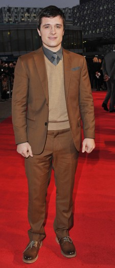 Josh Hutcherson at the London premiere