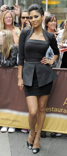 Nicole Scherzinger arriving at The X Factor, July 2010