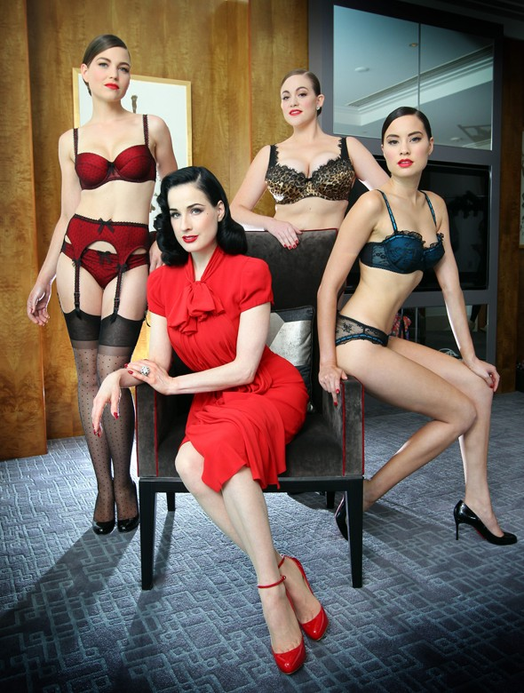 Sneak preview: Dita von Teese unveils debut lingerie collection