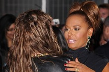 Katie Price mistakes tights for trousers, Mel B's face says what we're all thinking