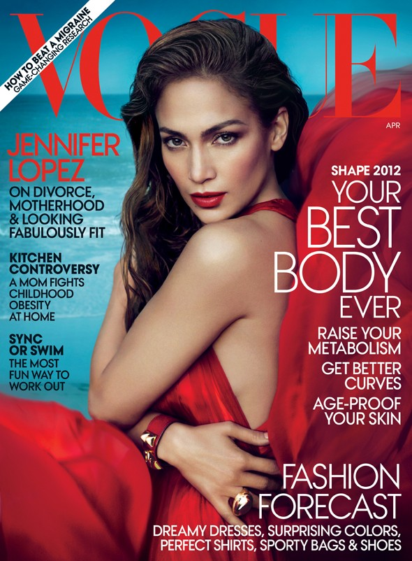 Which singer bagged the April cover of US Vogue?