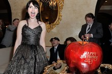 Apple-y ever after: Did Lily Collins get the best birthday cake ever?