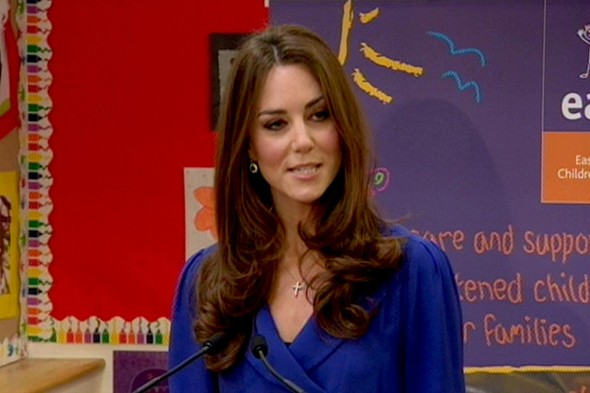 Duchess Kate goes royal blue for Ipswich charity visit