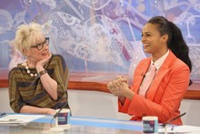 Hot or not: Alesha Dixon's carrot-coloured Loose Women look