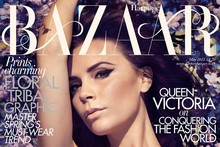 Queen Victoria: Harper's pick Mrs Beckham for their Brit celebration cover