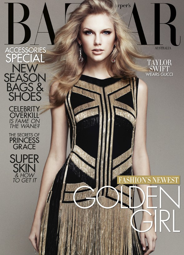 Taylor Swift wears Kanye 'I'ma let you finish' West in Harper's Bazaar shoot