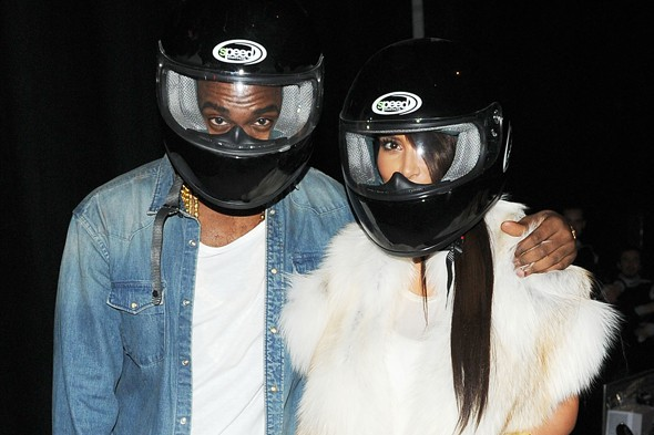 Kanye, Kim and Katy go go-karting at Paris Fashion Week party