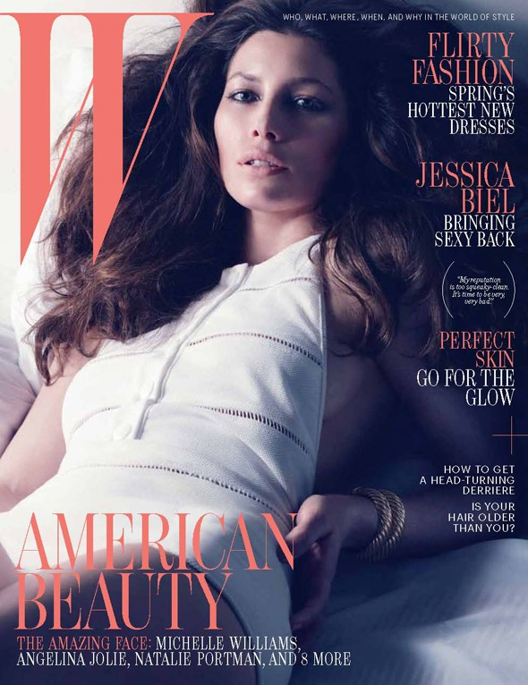 Jessica Biel brings Sexy Back for W magazine shoot
