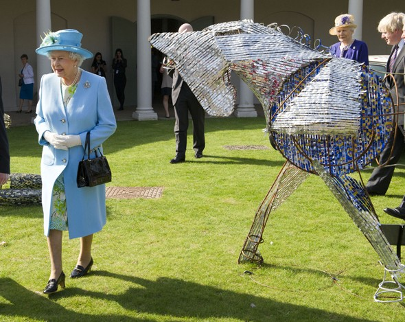 Caption competition: The Queen's awkward encounter with beer can horse