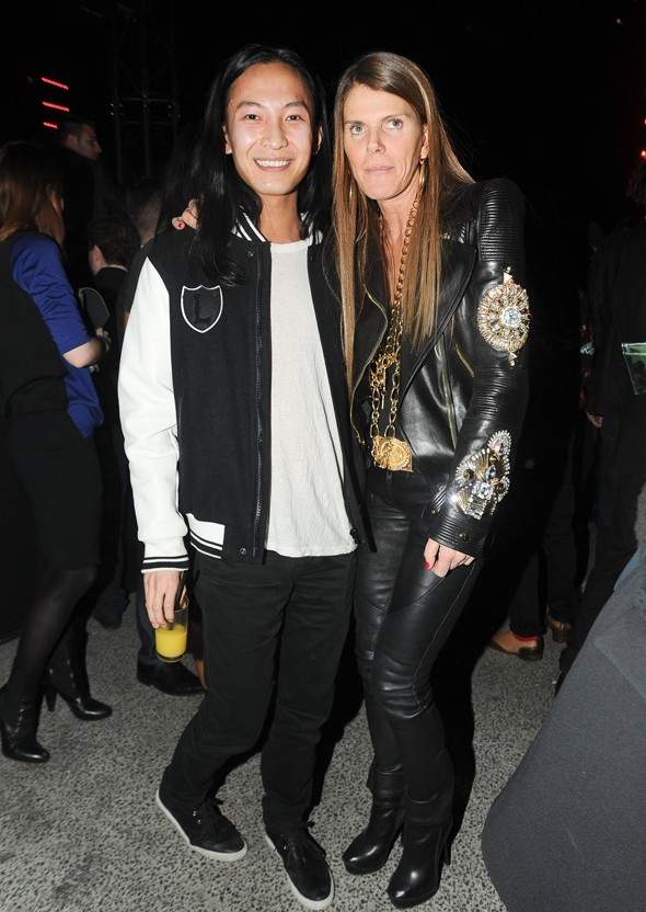 Alexander Wang and Anna Dello Russo