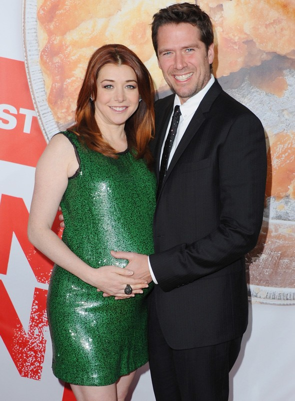 Alyson Hannigan and Alexis Denisof at the American Reunion premiere