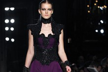 A Victorian inspired collection with a dark edge at Andrew Gn Autumn/Winter 2012