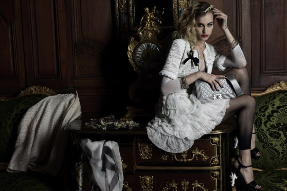 Alice Dellal for Chanel Boy