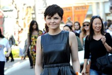 Ginnifer Goodwin, your leather LBD is adorable