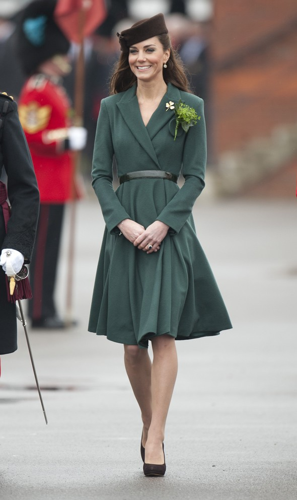 Duchess Kate wears green for St Patrick's Day, to be sure