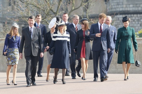 Spanx very much! Princess Beatrice shows off support tights at Queen Mother memorial