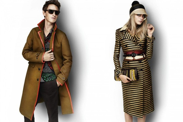 Eddie Redmayne and Cara Delevigne in the Spring/Summer 2012 Burberry campaign