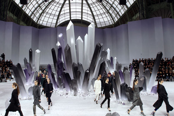 Stalagmites and Superman at Chanel