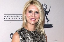 Claire Danes is chic in animal print for Homeland event