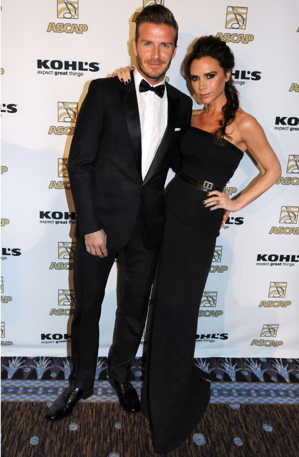 David and Victoria Beckham at ethe ASCAP Latin Music Awards