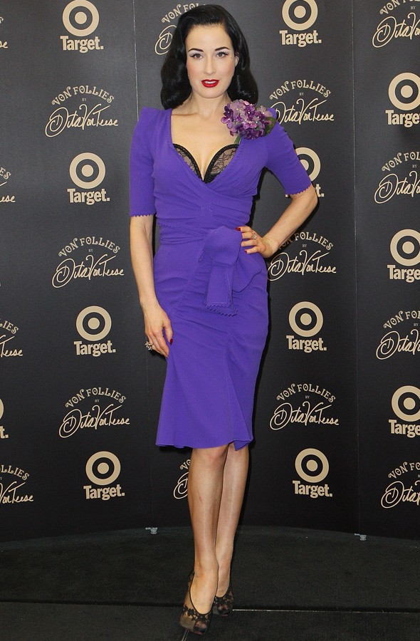 Dita Von Teese at her lingerie launch in melbourne
