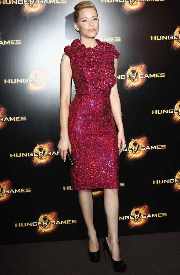 Elizabeth Banks in Marc Jacobs at the Paris premiere of The Hunger Games