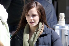 Emma Watson swaps pixie crop for longer locks on set of new film