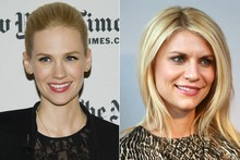 Beauty look of the week: January Jones vs Claire Danes