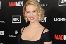 Hot or not: January Jones steps out in cut-out bandage dress