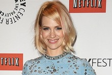 Hot or not: January Jones debuts pink-streaked hair at Mad Men event