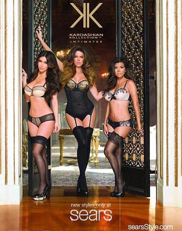 The Kardashian sisters in their underwear promoting the Kardashian Kollection Intimates range