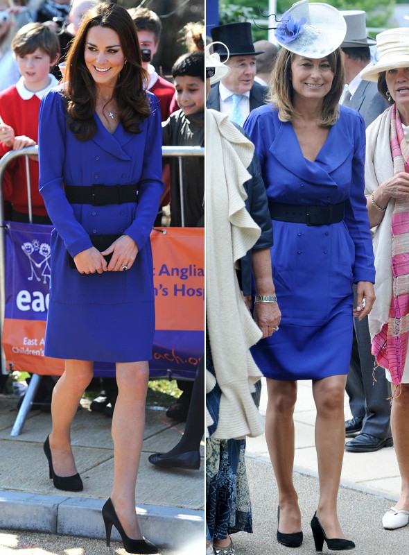 Duchess Kate wears the same Reiss dress as her mum Carole Middleton
