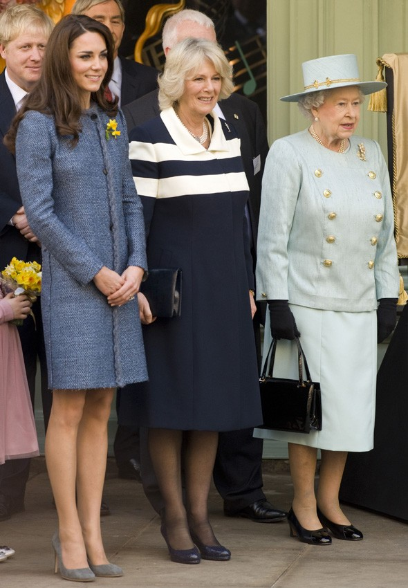 Duchess Kate, Duchess Camilla and the Queen