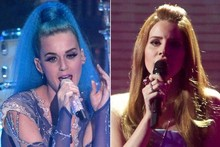 Katy Perry & Lana Del Rey's on-stage style battle at the Echo Music Awards