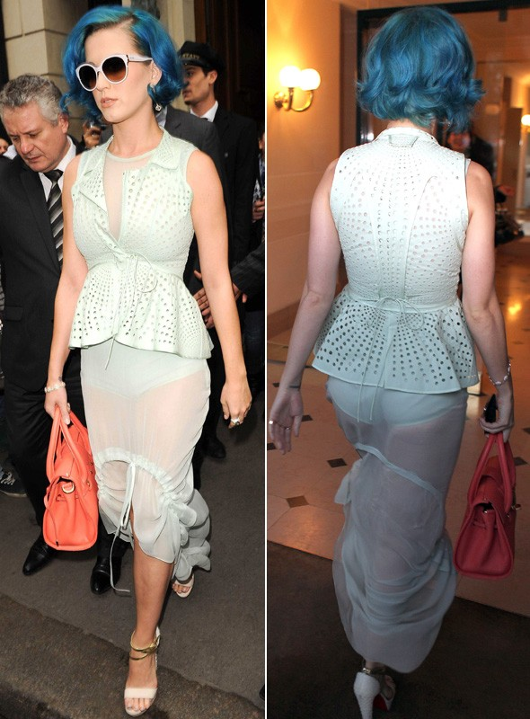 Katy Perry at Paris Fashion Week