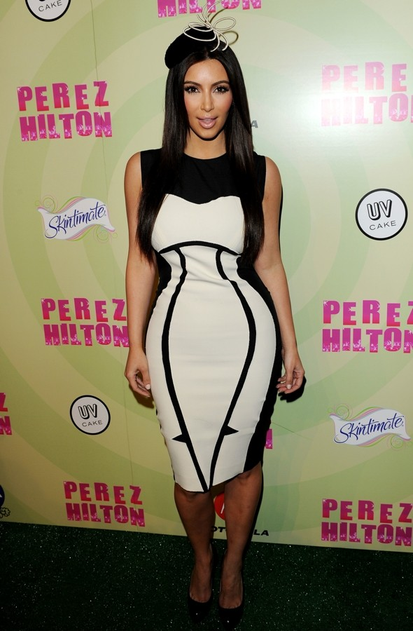 Do Kim Kardashian's curves really need the help of an optical illusion dress?