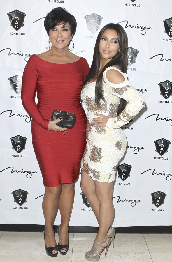 Battle of the BodyKon: Kim K and her mum step out in clingy dresses at birthday bash