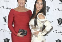 Battle of the BodyKon: Kim K and her mum step out in clingy birthday frocks