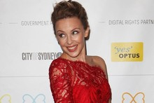 Little Red Dress: Kylie Minogue gets her Mardi Gras on