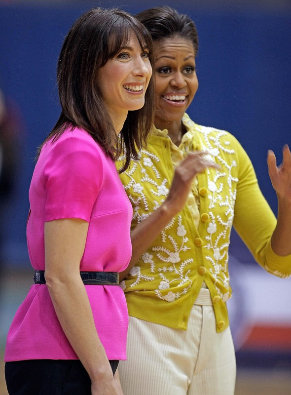 Samantha Cameron and Michelle Obama at America University