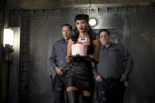 Sneak peek: Nicole Scherzinger wears leather dress for Men in Black 3 cameo